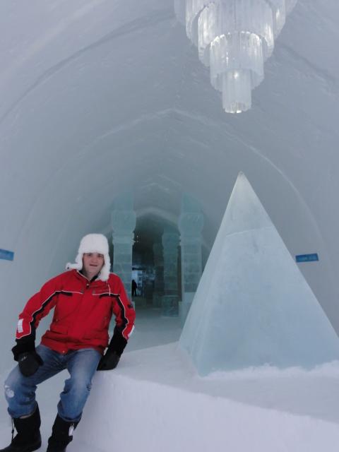 Michael Weilguny im Icehotel Schweden 2010