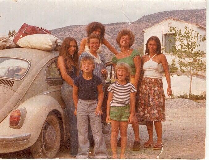 Griechenland 1977, 6 Personen im VW Käfer Michael Wielguny